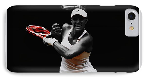 Angelique Kerber 3e IPhone Case by Brian Reaves