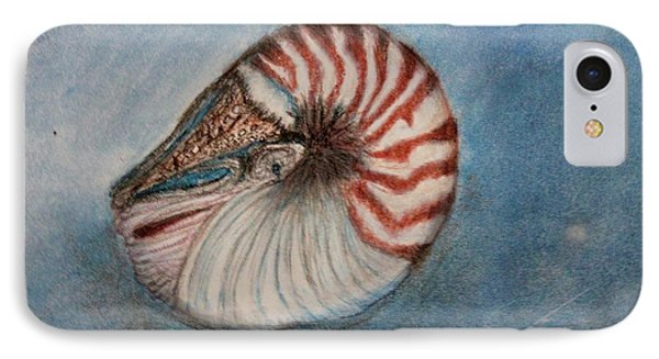 IPhone Case featuring the painting Angel's Seashell  by Kim Nelson