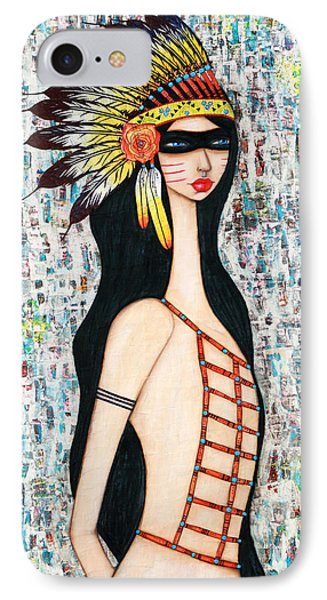 IPhone Case featuring the mixed media Angeni by Natalie Briney