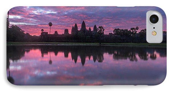 Angkor Wat Sunrise IPhone Case by Mike Reid