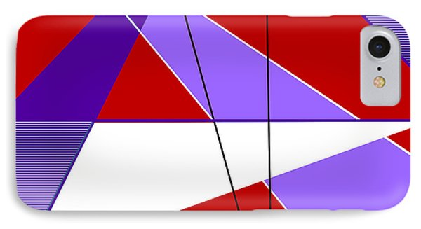 Angles And Triangles IPhone Case by Tara Hutton
