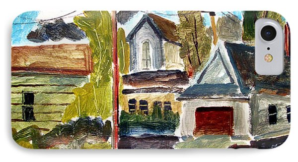 Anglican Rectory Back Alleyway IPhone Case by Charlie Spear
