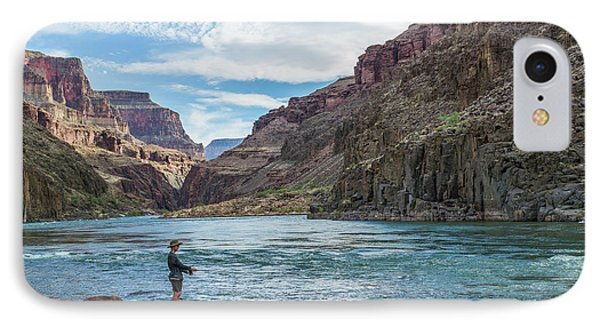 Angling On The Colorado IPhone Case by Alan Toepfer