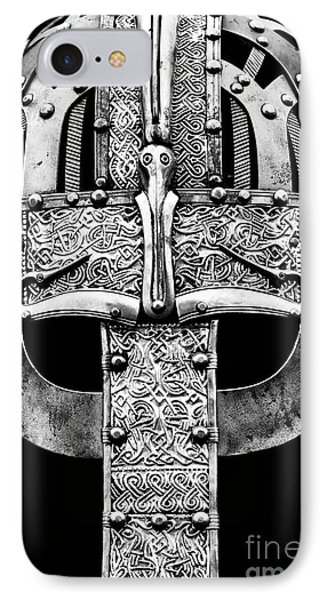 Anglo Saxon Helmet Monochrome IPhone Case by Tim Gainey