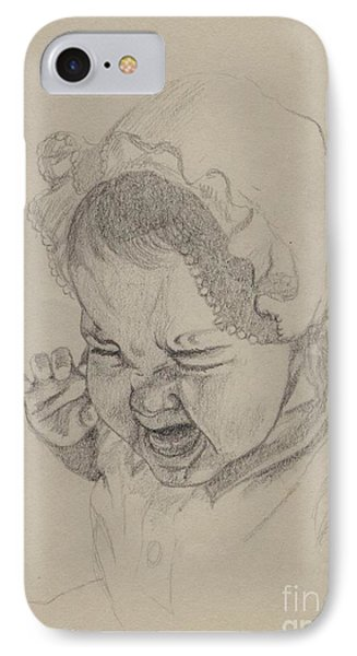 IPhone Case featuring the drawing Angry by Annemeet Hasidi- van der Leij