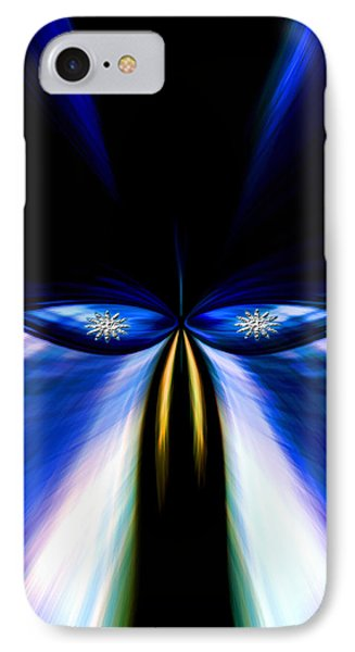 Angry Blue Bird IPhone Case by Cherie Duran