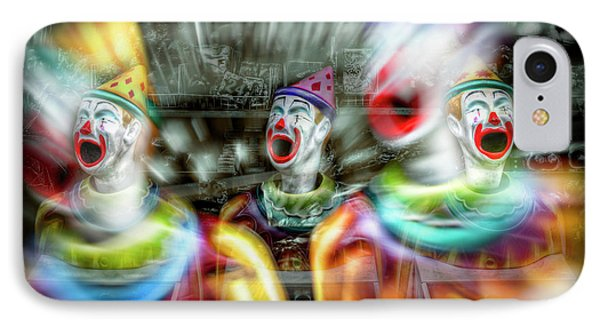 IPhone Case featuring the photograph Angry Clowns by Wayne Sherriff
