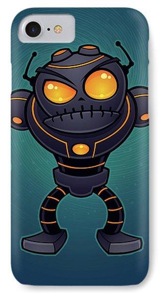 Angry Robot Phone Case by John Schwegel