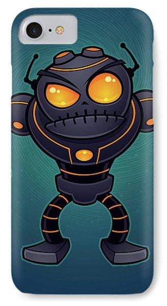 Angry Robot IPhone Case by John Schwegel
