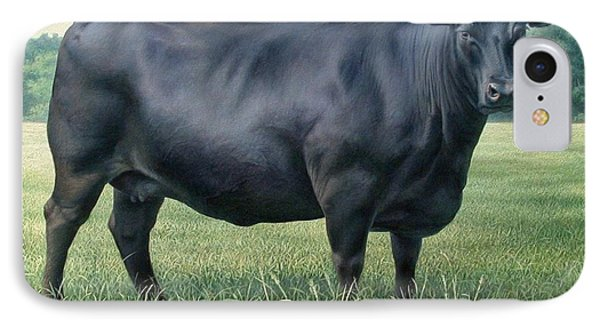 Angus Cow 182m 2 2007 Phone Case by Hans Droog