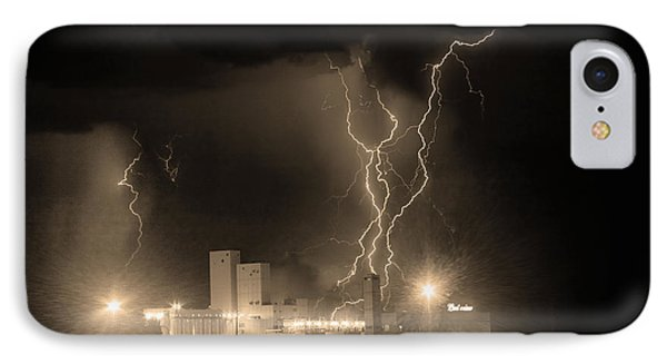 Anheuser-busch On Strikes Black And White Sepia Image Phone Case by James BO  Insogna