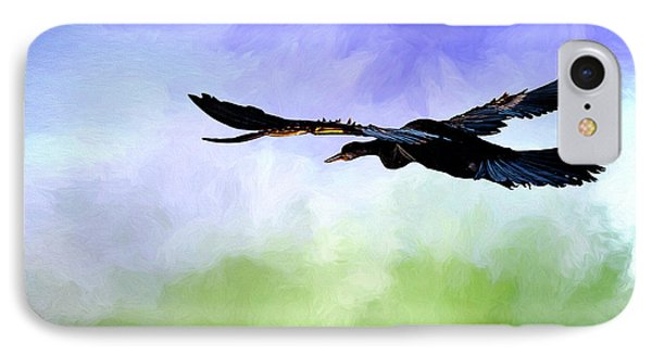 Anhinga In Flight IPhone Case