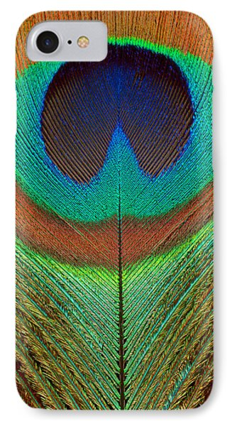 Animal - Bird - Peacock Feather IPhone Case by Mike Savad