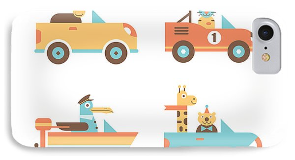 Animal Cars IPhone Case by Mitch Frey
