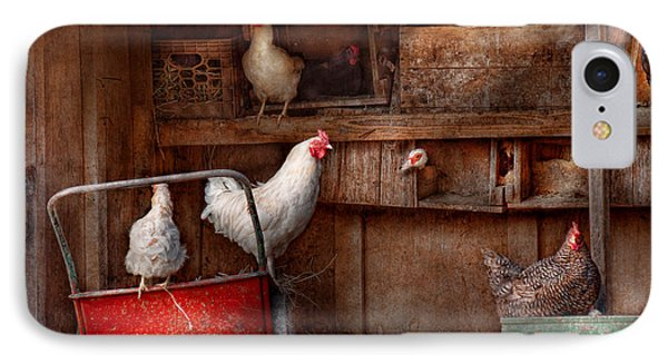 Animal - Chicken - The Duck Is A Spy  IPhone Case by Mike Savad