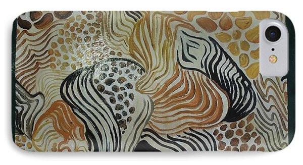 Animal Print Floor Cloth IPhone Case by Judith Espinoza