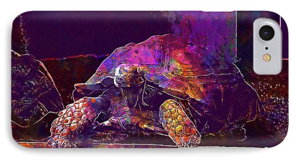 IPhone Case featuring the digital art Animal Turtle Zoo  by PixBreak Art