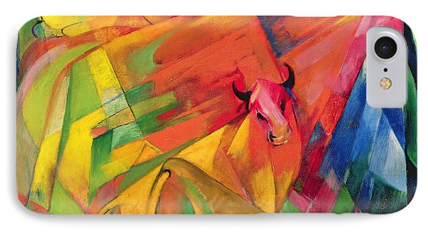 Animals In A Landscape Phone Case by Franz Marc