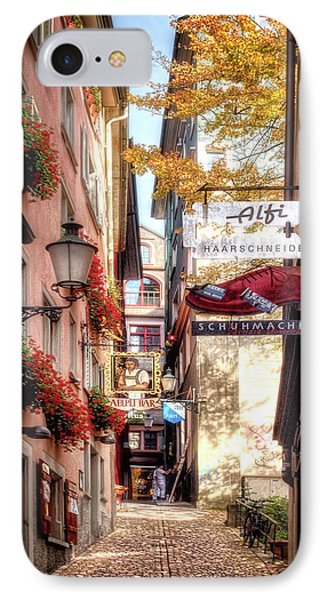 IPhone Case featuring the photograph Ankengasse Street Zurich by Jim Hill