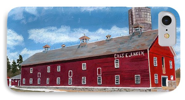 IPhone Case featuring the painting Anken's Barn by Lynne Reichhart