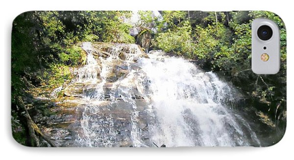 IPhone Case featuring the photograph Anna Ruby Falls by Jerry Battle
