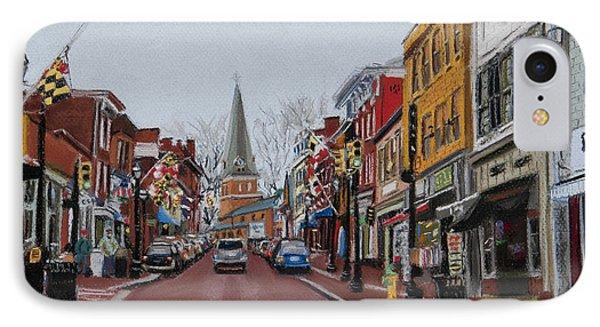 Annapolis Main Street Phone Case by Mary Susan Vaughn