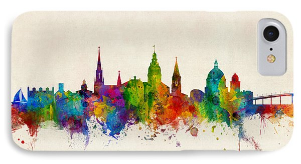 IPhone Case featuring the digital art Annapolis Maryland Skyline by Michael Tompsett