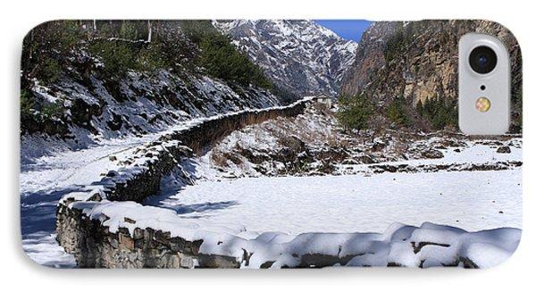 IPhone Case featuring the photograph Annapurna Circuit Trail by Aidan Moran