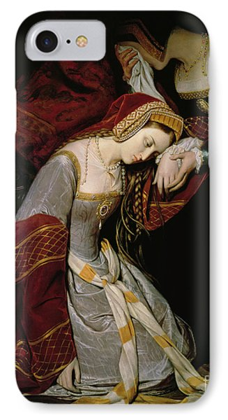 Anne Boleyn In The Tower IPhone Case by Edouard Cibot