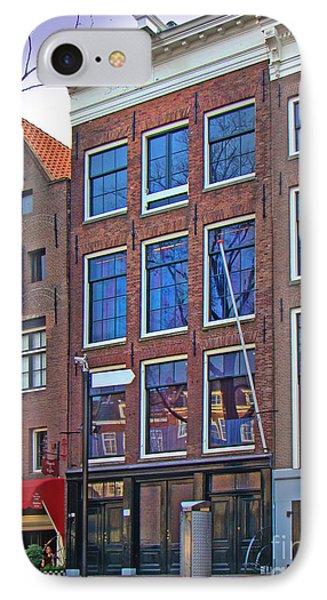 Anne Frank Home In Amsterdam IPhone Case by Al Bourassa