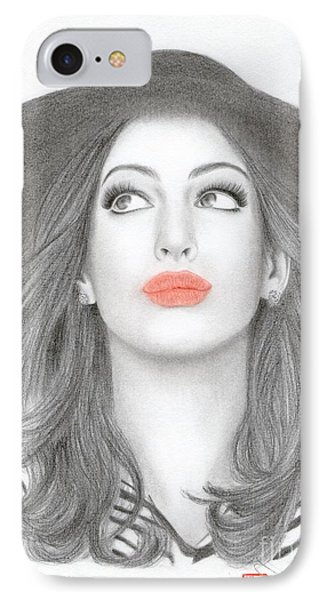 Anne Hathaway IPhone Case by Eliza Lo
