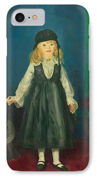 Anne With A Japanese Parasol IPhone Case by George Bellows