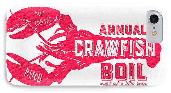 Annual Crawfish Boil Poster IPhone Case