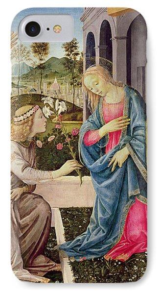 Annunciation With Saint Joseph And Saint John The Baptist IPhone Case