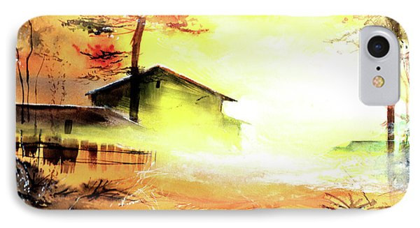 IPhone Case featuring the painting Another Good Morning by Anil Nene