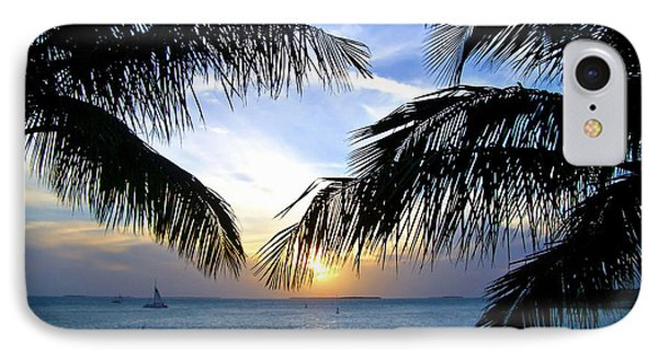 Another Key West Sunset IPhone Case by Joan  Minchak