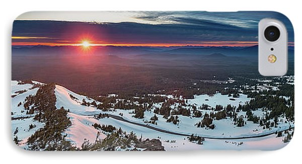 IPhone Case featuring the photograph Another Sunset At Crater Lake by William Lee