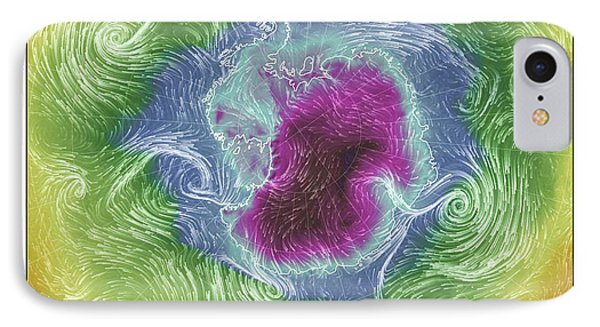 Antartica Surface Winds And Temps IPhone Case