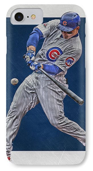 Anthony Rizzo Chicago Cubs Art 1 IPhone 7 Case by Joe Hamilton