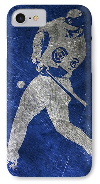 Anthony Rizzo Chicago Cubs Art IPhone Case by Joe Hamilton
