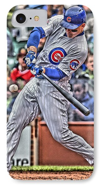 Anthony Rizzo Chicago Cubs IPhone 7 Case by Joe Hamilton