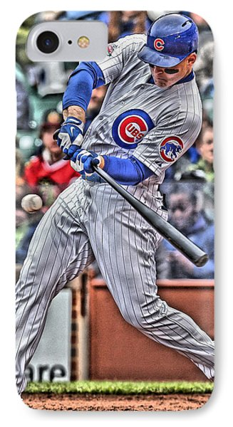 Anthony Rizzo Chicago Cubs IPhone Case by Joe Hamilton