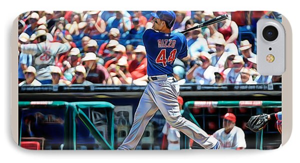 Anthony Rizzo IPhone Case by Marvin Blaine