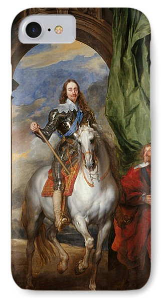 Anthony Van Dyck - Charles I With M. De St Antoine IPhone Case by Anthony van Dyck