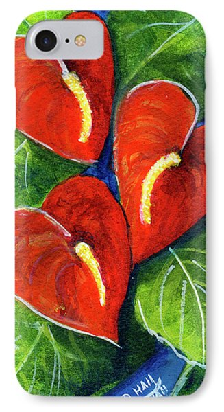 Anthurium Flowers #272 Phone Case by Donald k Hall