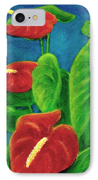Anthurium Flowers #296 Phone Case by Donald k Hall