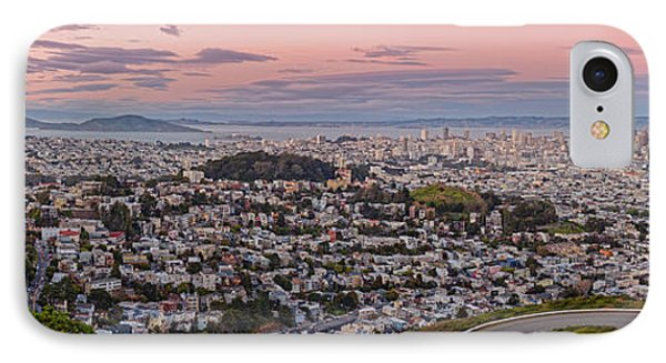 Anti-crepuscule Panorama Of San Francisco From Twin Peaks Scenic Overlook - California IPhone Case by Silvio Ligutti