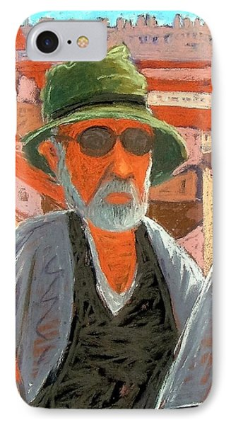 IPhone Case featuring the painting Antibes Self by Gary Coleman