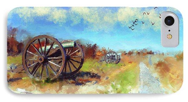 IPhone Case featuring the digital art Antietam Under Blue Skies  by Lois Bryan