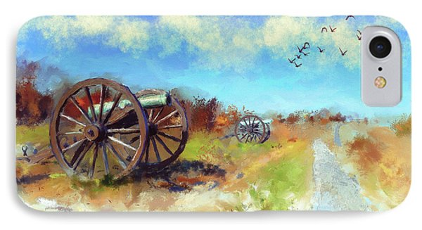 Antietam Under Blue Skies  IPhone Case by Lois Bryan